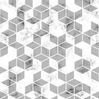vektor marmor konsistens, sömlös mönster design med gyllene geometriska linjer och kuber, svart och vit marmor yta, modern lyxig bakgrund