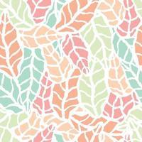 nahtloses Muster mit handgezeichneten natürlichen Blättern vektor