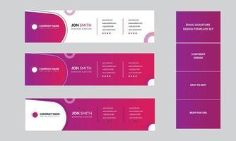 Vorlagen für persönliche E-Mail-Signaturen von Unternehmen vektor