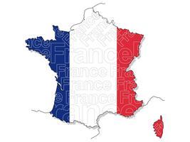 Eine Karte von Frankreich. vektor
