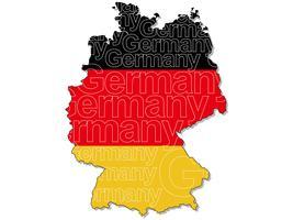 En karta över Tyskland. vektor