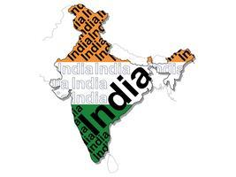 Eine Karte von Indien. vektor