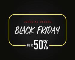 svart fredag försäljning mall bakgrund vektor