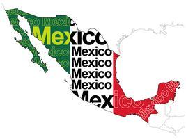 Eine Karte von Mexiko. vektor