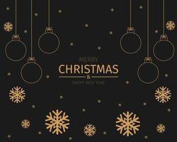 goldene Weihnachten und Neujahr Hintergrund Vektor