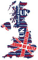 Eine Karte von Großbritannien.