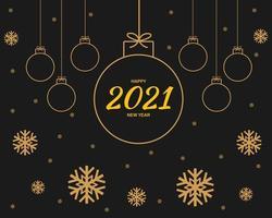 Frohes neues Jahr 2021 Hintergrundvektor