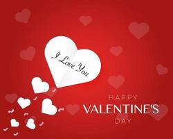 Valentinstag Papier Konzept Hintergrund Vektor