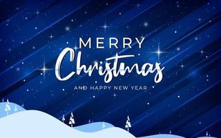god jul och gott nytt år glödande bakgrund vektor