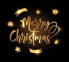 gyllene god jul tecken vektor