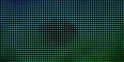 hellblaues, grünes Vektormuster mit Kugeln. vektor