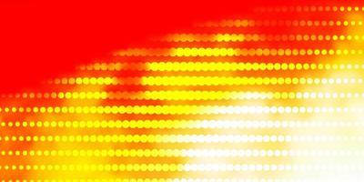 ljus orange vektormall med cirklar.