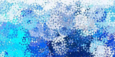 hellblaues Vektorlayout mit Linien, Dreiecken.
