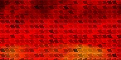 dunkelorange Vektor Textur im rechteckigen Stil.