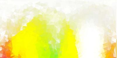hellgrüne, rote Vektordreieck-Mosaikschablone. vektor