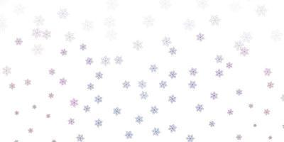 ljusblå, röd vektor naturlig layout med blommor.