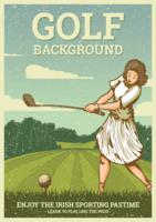 vintage golf illustration vektor