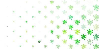 hellgrüne, gelbe Vektorschablone mit Grippezeichen vektor