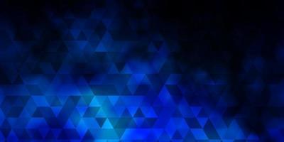 mörkblå vektorlayout med linjer, trianglar.