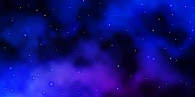 dunkelrosa, blaues Vektorlayout mit hellen Sternen.