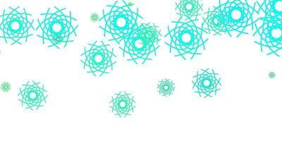 hellgrüner Vektorhintergrund mit zufälligen Formen.