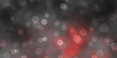 mörk röd vektor layout med cirkel former.