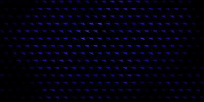 mörkblå vektorlayout med linjer, trianglar. vektor