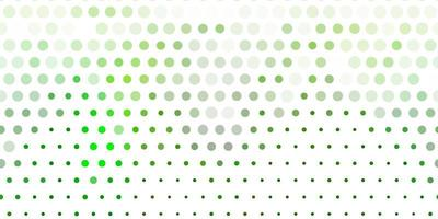 hellgrüner Vektorhintergrund mit Punkten.