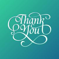 Dekorative Danke Typografie Free Vector