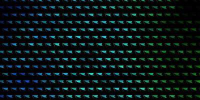 ljusblå, grön vektorlayout med linjer, trianglar.