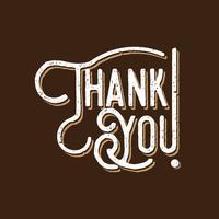 Danke Typografie-Weinlese-Art vektor