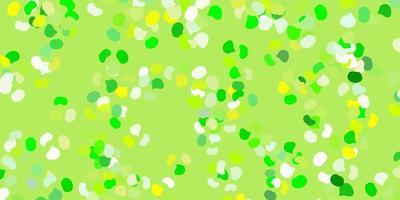 hellgrüne, gelbe Vektorbeschaffenheit mit Memphisformen. vektor