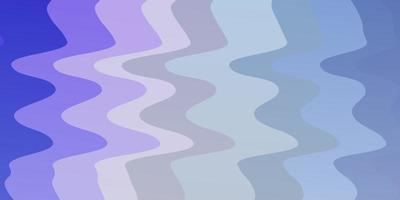 ljusrosa, blå vektorbakgrund med böjda linjer. vektor
