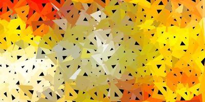 ljus orange vektor triangel mosaik tapet.