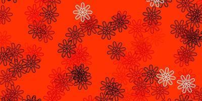 natürliches Layout des hellorangen Vektors mit Blumen.