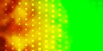 ljusgrönt, gult vektormönster i fyrkantig stil. vektor