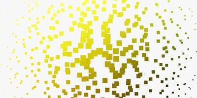 hellgrünes, gelbes Vektormuster im quadratischen Stil.