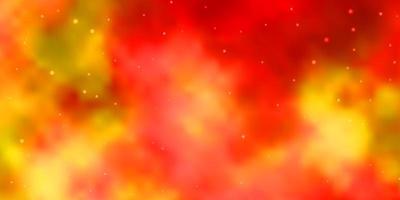 hellorange Vektormuster mit abstrakten Sternen.