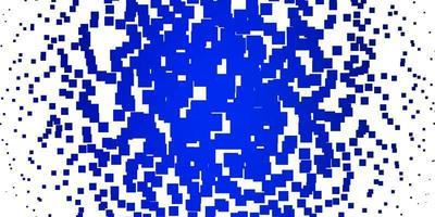 hellblaues Vektormuster im quadratischen Stil. vektor