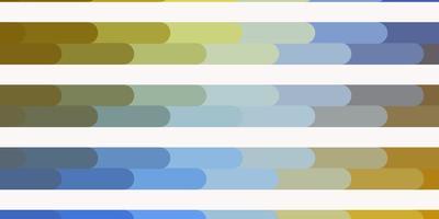 ljusblått, gult vektormönster med linjer. vektor