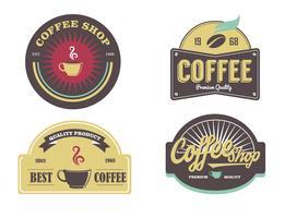 Kaffeeladen-Logo-Aufkleber-Vektor-Satz vektor