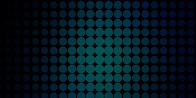 dunkelblaues Vektormuster mit Kreisen.