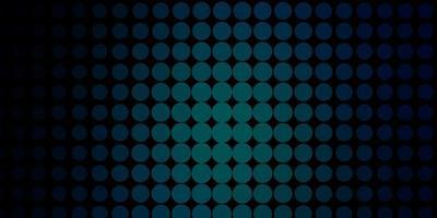 mörkblå vektormönster med cirklar. vektor