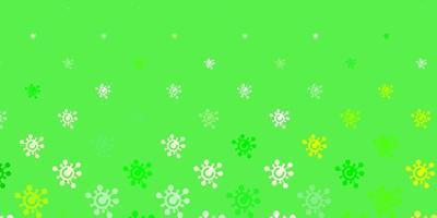 hellgrüne, gelbe Vektorschablone mit Grippezeichen