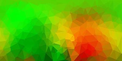 mörkgrön, gul vektor gradient polygon design.