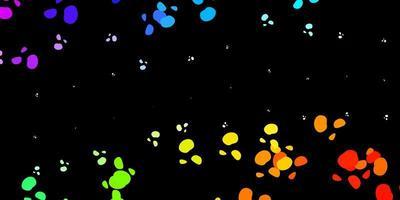 mörk flerfärgad vektormall med abstrakta former.