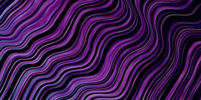 dunkelrosa, blaue Vektorschablone mit gekrümmten Linien. vektor