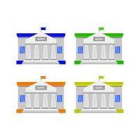 Bank in Vektor auf weißem Hintergrund dargestellt