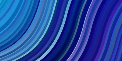 hellrosa, blauer Vektorhintergrund mit gebogenen Linien.