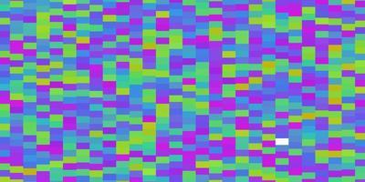 leichtes mehrfarbiges Vektormuster im quadratischen Stil. vektor